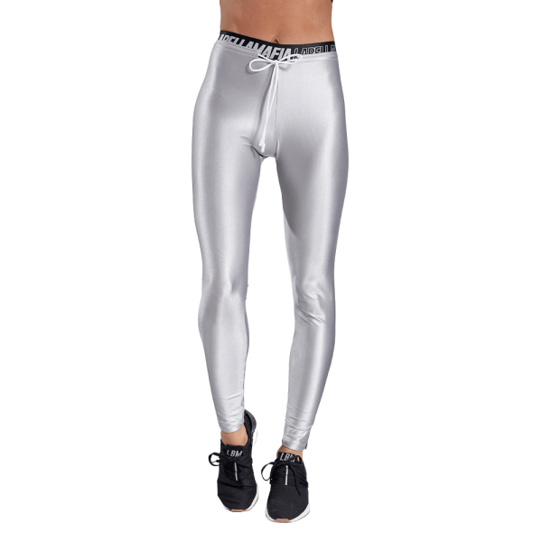 Labellamafia Leggings Silver Sparkle