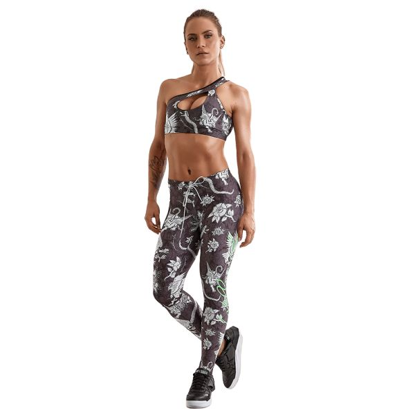 Labellamafia Set Fitness Feminino Over Print Flowers