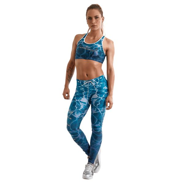 Labellamafia Set Fitness Feminino Over Print Blue