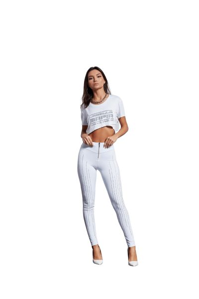 Labellamafia Crop T-Shirt White