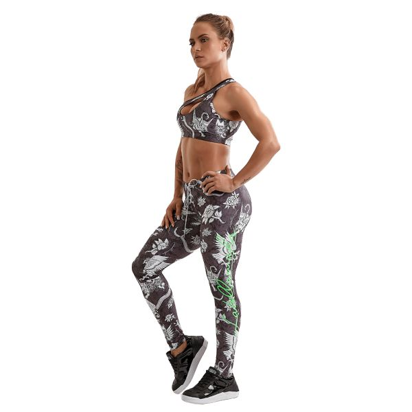 Labellamafia Leggings Fitness Feminino Over Print Flowers