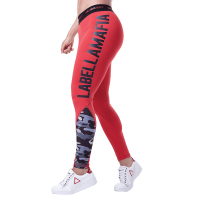 Labellamafia Leggings Army Red