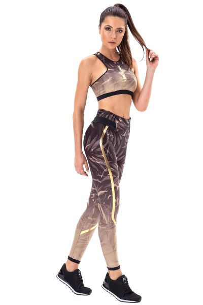 Labellamafia Fitness Leggings Fading Leaves